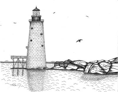 Graves Lighthouse - Boston Art Print by Tim Murray