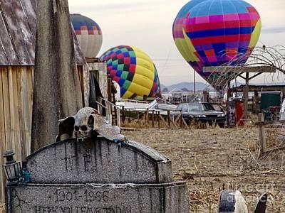 Photograph - Graveyard And Balloons by Deniece Platt