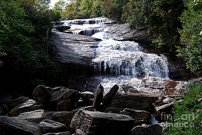 Photograph - Graveyard Fields Waterfall 20130913_165 by Tina Hopkins