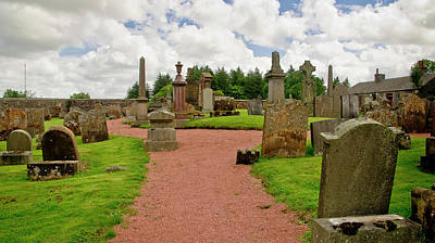 Photograph - Graveyard. Kirk Of Shotts. by Elena Perelman