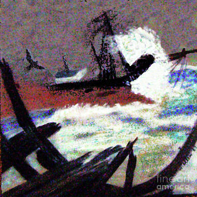 Painting - Graveyard Of Sailing Ships by Merton Allen