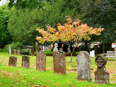 Photograph - Graveyard Of The Church Of The Holy Trinity In Stratford Upon Avon by Louise Heusinkveld