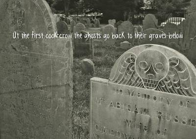 Graveyard Quote Art Print by JAMART Photography