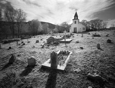 Photograph - Graveyard San Patricio New Mexico by Nathan Mccreery
