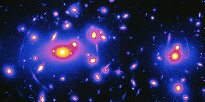 Gravitational Lensing Caused By Abell 2218 Cluster Print by W.couch & R.ellisnasa