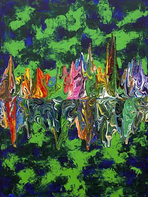 Lemon Drops Painting - Gravity Cd51317a by Antonio Wehrli