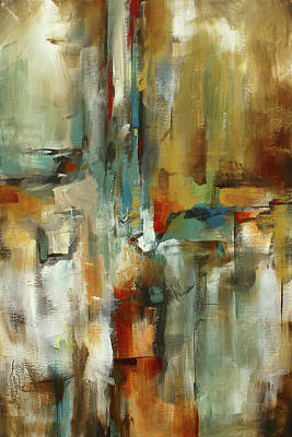 Multi Colored Painting - Gravity by Michael Lang