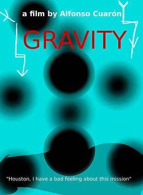 Gravity Movie Poster Original by Enki Art