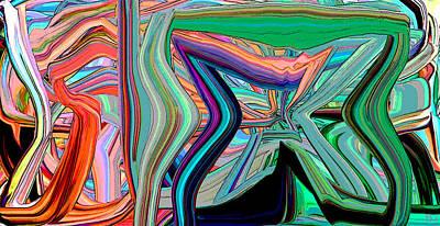 Digital Art - Gravity Pull 4 by Phillip Mossbarger