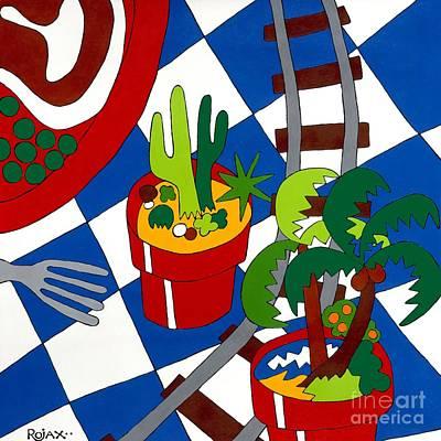 Painting - Gravy Train by Rojax Art