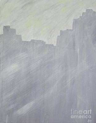 Painting - Gray And Yellow by Barbara Yearty
