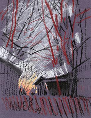 Gray Barns Original by Donald Maier