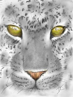 Digital Art - Gray Big Cat by Darren Cannell