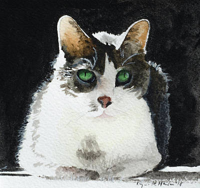 Painting - Gray Cat by Lynn Hansen
