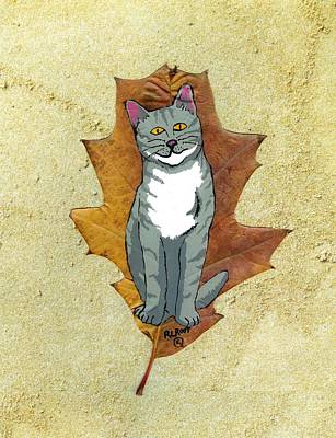 Painting - Gray Cat by Ralph Root