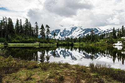 Photograph - Gray Clouds Over Picture Lake by Tom Cochran
