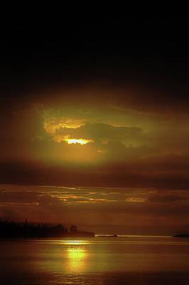 Photograph - Gray Dawn At Copper Harbor by Jeff Kurtz