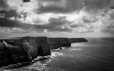 Photograph - Gray Day At Ireland's Cliffs Of Moher by James Truett