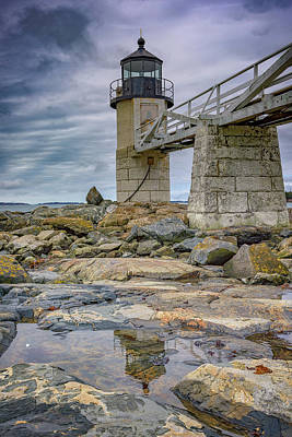 Art Print featuring the photograph Gray Day At Marshall Point by Rick Berk