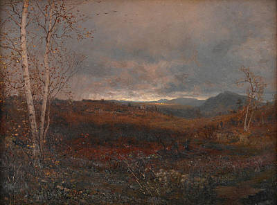 Painting - Gray Day In Hill Country by Jervis McEntee