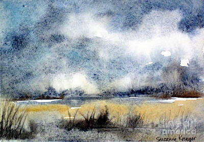 Gray Day Art Print by Suzanne Krueger