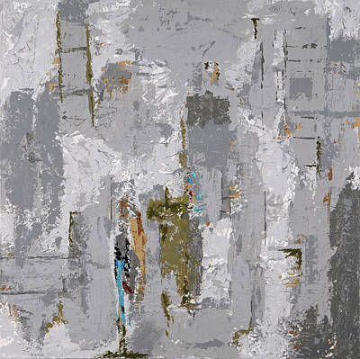 Painting - Gray Matters 9 by Jim Benest