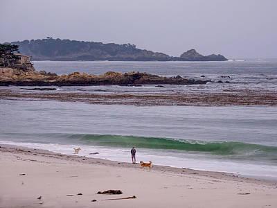 Photograph - Gray Morning On Carmel Beach by Derek Dean