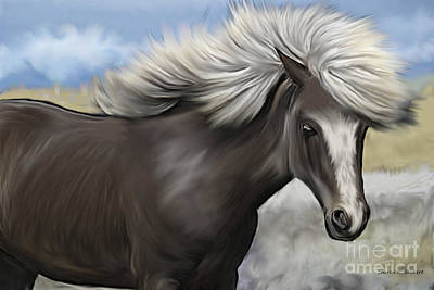 Horse Giclee Painting - Gray Painted Pony by Sharon K Shubert