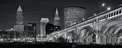 Photograph - Gray Pano Of Cle by Frozen in Time Fine Art Photography