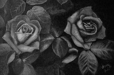Painting - Gray Roses by Anna Brazao