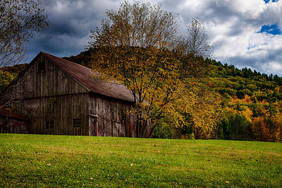 Photograph - Gray Weathered Barn Number Two by Jeff Folger