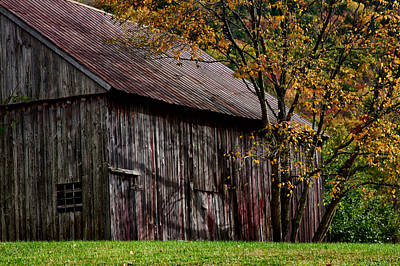 Photograph - Gray Weathered Barns Number Three by Jeff Folger