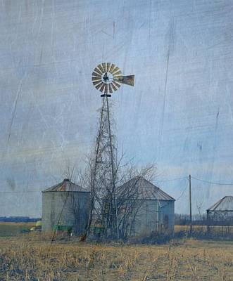 Photograph - Gray Windmill 2 by Bonfire Photography