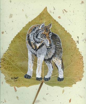 Painting - Gray Wolf by Ralph Root