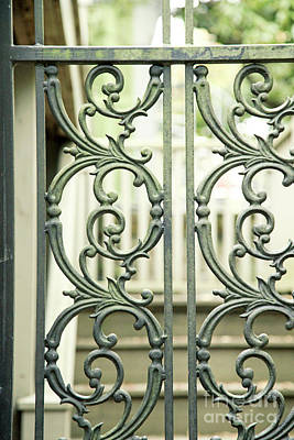 Photograph - Gray Wrought Iron Fence by Heather Green