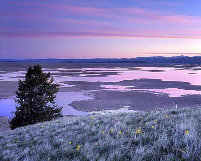 Refuge Photograph - Grays Lake Sunrise by Leland D Howard
