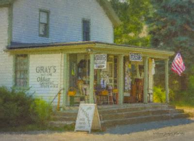 Gray's Store In Little Compton Rhode Island Art Print