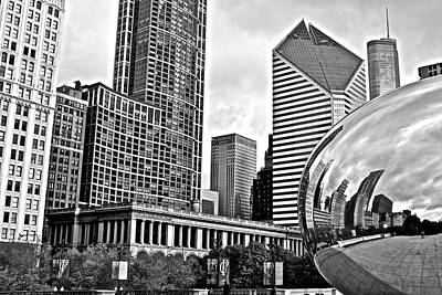 Photograph - Grayscale Millennium Park by Frozen in Time Fine Art Photography
