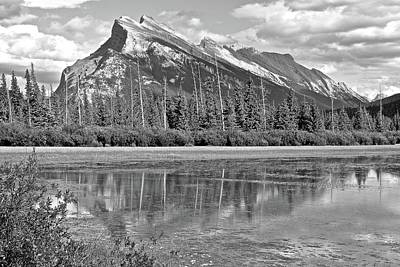 Photograph - Grayscale Of Norquay by Frozen in Time Fine Art Photography