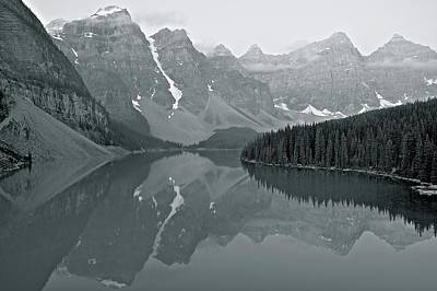 Photograph - Grayscale Ten Peaks by Frozen in Time Fine Art Photography