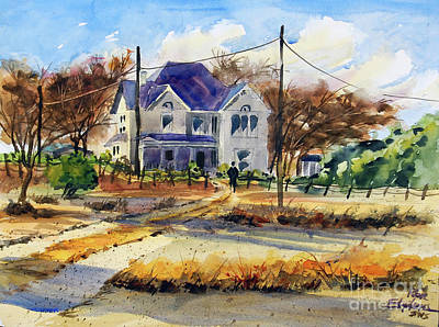 Painting - Grayson County Farmhouse by Ron Stephens