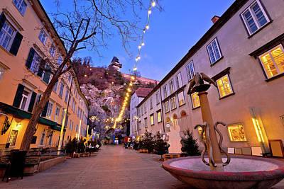 Photograph - Graz City Center Christmas Fair Evening View by Brch Photography