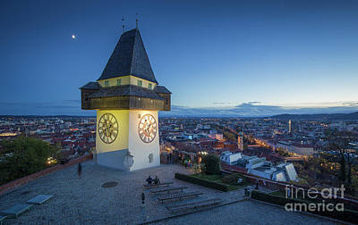 Photograph - Graz Twilight View by JR Photography