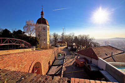 Photograph - Graz View From Schlossberg At Sunset by Brch Photography