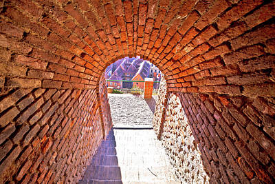 Photograph - Graz Walkway From Upper Town Tunnel View by Brch Photography
