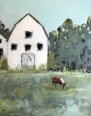 Farmhouse Painting - Graze by Chandra Savaso
