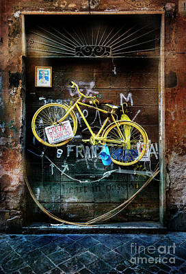 Photograph - Grazie Yellow Bicycle by Craig J Satterlee