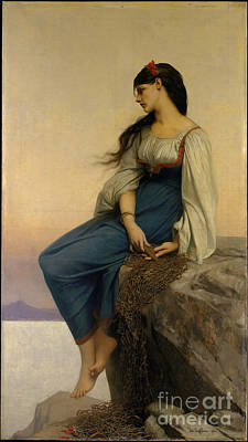 Teenager Painting - Graziella by Jules-Joseph Lefebvre