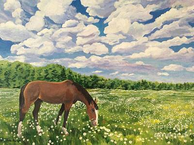 Painting - Grazing Among The Dasies by Stella Sherman