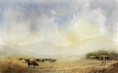 Painting - Grazing Herd by Tim Oliver